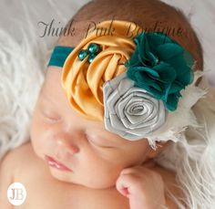 Baby Headband Baby headbands Newborn Headband by ThinkPinkBows