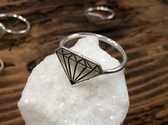 Handmade Rings, Handmade Sterling Silver, Sterling Silver Jewelry, Best Friend Rings, Cheer Up Gifts, Unique Silver Rings, Edwardian Ring, Diamond Stacking Rings, Diamond Design