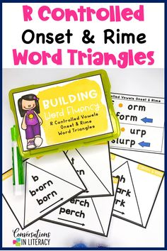 R Controlled Vowel Activities for a great worksheet alternative!  These phonics games are for teaching your students to decode words into onset and rimes during guided reading small group time, reading interventions, or literacy centers for first grade, second grade and third grade. #phonics #decoding #guidedreading #readinginterventions #literacycenters #fluency #conversationsinliteracy #classroom #elementary