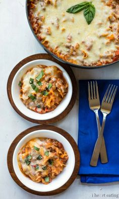Easy One-Skillet Lasagna |  http://www.ihearteating.com | #fast #dinner #recipe