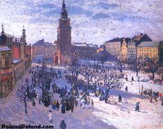 Market in Krakow Józef Mehoffer - 1903 Art Nouveau, Classic Paintings, Portugal, Urban Life, Art Themes, Artist Art, Paris Skyline, Art Drawings, Art Photography