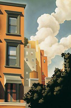 Kenton Nelson ~Via Larry Ridgwell (cityscape art sketch) Casa Anime, Pinturas Disney, Building Painting, Cityscape Art, Guache, Art Moderne, Art For Art Sake, Art Plastique, American Artists
