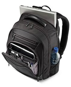 Pack light, fly right. A comfort design keeps all of your business essentials secure & ready-for-the-grabbing on your back. The innovative Perfect Fit System protects your laptop from the unexpected j