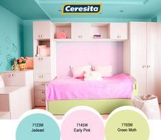 #CeresitaCL #PinturasCeresita #Color #Niñas #Niña #Habitación #Infantil #Juegos #Pintura #Decoración #Hogar #Home #Deco #Tendencia #Estilo *Códigos de color sólo para uso referencial. Los colores podrían lucir diferentes, según calibrado de su monitor.