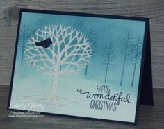 Stampin' Up! Thoughtful Branches Christmas Card
