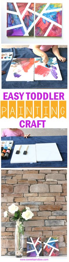 Easy Toddler Painting Craft - Indoor or Outside Activity