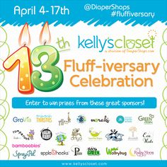 The Cloth Diaper Whisperer: Kelly's Closet #FLUFFIVERSARY Celebration Giveaway  @Diaper Shops