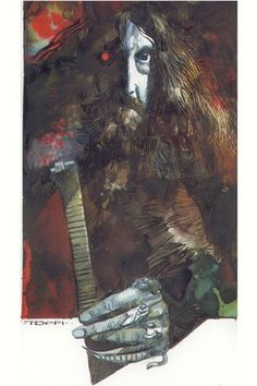 Alan Moore by Sergio Toppi (Author of The Killing Joke, Watchmen, and other greats).