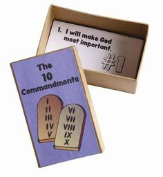 """Kids will easily learn the 10 Commandments with this little box. Commandments are in """"""""kid terms"""""""" and are ready-to-color. Includes commandment sheets"""""""