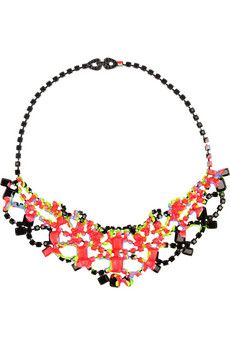 Trend-Spotting: Colorful Statement Necklaces by Tom Binns, Erickson Beamon, Dannijo and more!