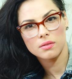 c3c275282f6 Thick Brown Frame Wayfarer Women Men Cat Eye Glasses Cool Glasses