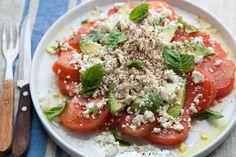 Israeli Tomato Feta Salad by Beverly Hills Farmgirl