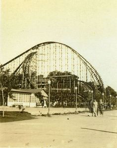 The Cyclone -the first drop with its' incredible angle of drop and curve