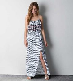AEO Ruffled Boho Maxi Dress