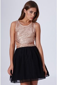 Sequin Cutout Dress - Dresses Function Dresses, Cutout Dress, Skater Skirt, Sequins, Prom Dresses, My Style, Skirts, Fabric, Fashion