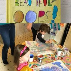February Oops teaches us that mistakes can be beautiful! Process Art, Mistakes, Lesson Plans, The Creator, Art Projects, February, Preschool, Palette, Kids Rugs