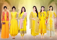 Get Different Designs, Patterns, Fabrics Of Various Anarkali Suits.