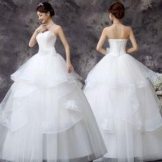 165.89 USD Sweetheart Popular White/Ivory Wedding Dresses Bridal Gown Custom