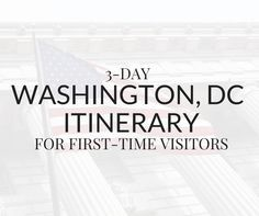 3-day Washington DC itinerary. This travel guide shows you how to visit all the top attractions in the city on a budget.