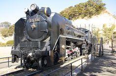 "An old Japanese steam locomotive ""D51""."