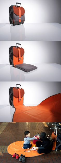 Luggage carpet- i want this for myself to sit on the floor in the airport
