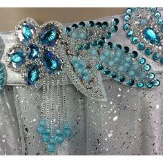 FREE SHIPPING hand bead belly dance samba costume silver blue   Etsy Mardi Gras Costumes, Carnival Costumes, Hand Work Embroidery, Beaded Embroidery, Vintage Costume Jewelry, Vintage Costumes, Ballroom Jewelry, Hand Work Design, Samba Costume