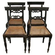 Check out this item at One Kings Lane! Gustavian-Style Caned Chairs, Set of 4