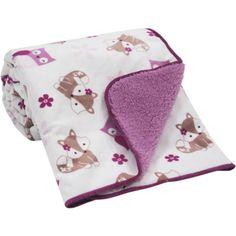 Bedtime Originals Lavender Woods Velour/Sherpa Blanket - Walmart.com