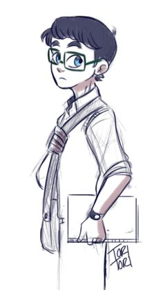 Teenage Hugo by Toritori - Hugo is the little brother of Emma