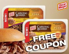 FREE Oscar Mayer Pulled Pork Coupon #freebies