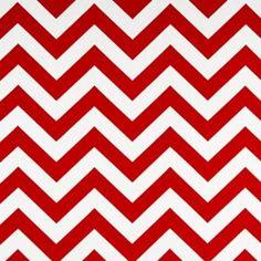 Zig Zag Lipstick/White by Premier Prints - Drapery Fabric - Drapery Fabrics at Buy Fabrics 7.95/yd