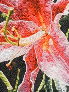 Star by Caryl Schuetz, quilted by Cathy Franks. Photo by Quilt Inspiration: Blooming Beauties: Artistic flower quilts