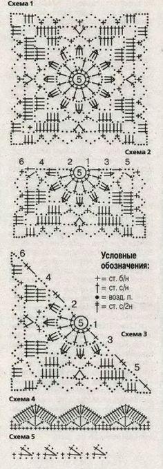 Blue jacket lace motifs (hook). Comments: LiveInternet - Russian Service Online Diaries
