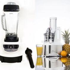 #Optimum 600 Slowjuicer en #Optimum 9400 High Speed Blender #high quality #best price #start Juicing #make smoothies #best Juices #superfoodguru http://www.superfoodguru.nl/shop/lidmaatschap-boxen/