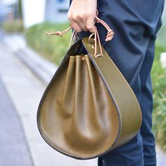 巾着鞄(Q-27) || awesome moss || green tote bag