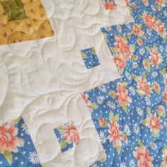 Stop the presses! Believe it or not, I have finished a second quilt this month! Spring Garden is now bound and ready to be enjoyed. Nine Patch Quilt, Swirl Pattern, Number Two, Spring Garden, My Favorite Part, Projects To Try, Patches, Quilts, Sewing