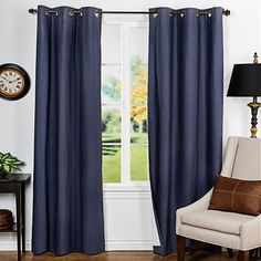 Insulated Curtains Insulated or thermal curtains can help to keep your home cool in summer and warm in the winter, … Extra Long Curtain Rods, Extra Long Curtains, House Windows, Blinds For Windows, Cool Curtains, Panel Curtains, Insulated Drapes, Curtain Styles, Custom Drapes