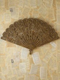 Vintage Victorian Metal Fan