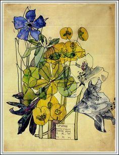 Charles Rennie Mackintosh ~ Spurge ~ 1909