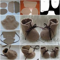 How To stitch Fashion Baby Shoes step by step DIY tutorial instructions Cute DIY Baby Shoes Ideas +Tutorial - All For Fashions - fashion, beauty, diy, crafts, alternative health Welcome to SaiFou – Inspiring images Felt Baby Shoes, Doll Shoe Patterns, Sewing Dolls, Doll Shoes, Baby Sewing, Gnomes, Diy For Kids, Diy Tutorial, Christmas Crafts