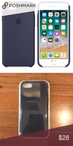 Navy Blue Apple Silicone iPhone Case Brand new Apple Silicone case iPhone Navy Blue Available in other colors in shop Price is firm on this item! Iphone 8 Plus, Iphone 7, Iphone Cases, Apple Iphone, Unicorn Iphone Case, Apple Launch, Shop Price, Apple Ipad, Ears