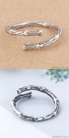 Cheap Vintage Simple Branch Silver Rings Retro Branch Open Ring For Big Sale! 925 Silver, Silver Rings, Sweet Ring, Hollow Heart, Animal Rings, Silver Ring Designs, Rings For Girls, Open Ring, Cute Rings