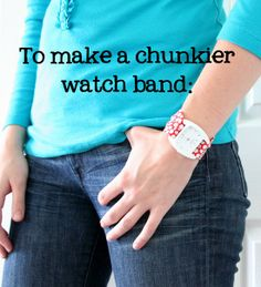 How to sew a fun chunky watch band.