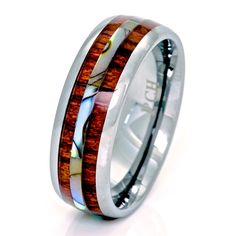 Hey, I found this really awesome Etsy listing at https://www.etsy.com/listing/267033926/tungsten-mens-ring-hawaiian-koa-wood-and