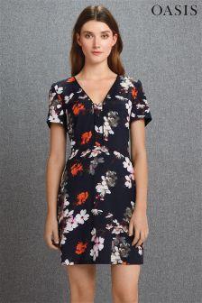 Navy Oasis Midnight Blossom Dress