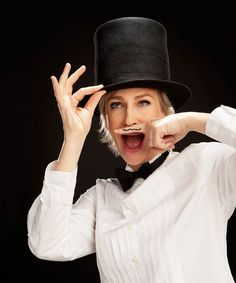 """Jane Lynch ~ """"Comic Genius"""" is a beautiful project by American photographer Matt Hoyle, who has made more than 130 portraits of famous actors & comedians. Matt Hoyle has now consolidated his portraits in a book called """"Comic Genius, portraits of funny people."""""""