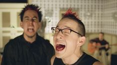 Screenshot from Papercut music video by Linkin Park Linkin Park Music Videos, Paper Cutting, Men, Guys