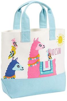 Stylishly designed to be durable and functional, this easy-to-carry tote will keep your kid's stuff neatly packed and ready-to-go. Boasting a playful design, it has a roomy interior that can effortlessly store all their daily activity and overnigh… Alpacas, Llama Decor, Alpaca My Bags, Llama Arts, Cartoon House, Baby Llama, Llama Birthday, Funny Llama, Kids Icon