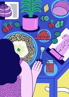 Dinner by Martina Paukova #illustration