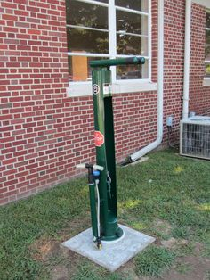 Bike repair station outside the Rockmart, GA Welcome Center